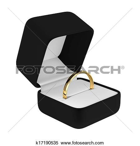 Black box clipart jpeg image freeuse stock Stock Illustration of Gold Ring with Black Box k17190535 - Search ... image freeuse stock