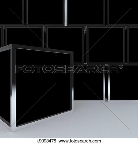Black box clipart jpeg clipart library stock Stock Illustration of 3D blank abstract black box display k9098475 ... clipart library stock