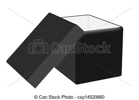 Black box clipart jpeg graphic transparent stock Clip Art Vector of Black box - Illustration of an open box black ... graphic transparent stock