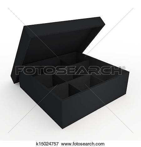 Black box clipart jpeg free Stock Illustration of 3d black box opened free k15024757 - Search ... free