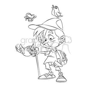 Black boy in nature clipart picture free download boy hiking in nature black and white clipart. Royalty-free clipart # 395106 picture free download