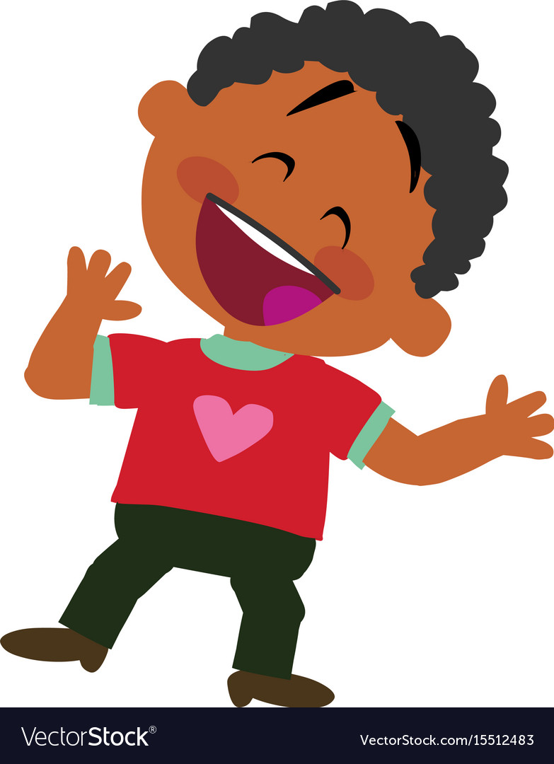 Black boy in nature clipart clipart library download Cartoon character of a cheerful black boy clipart library download