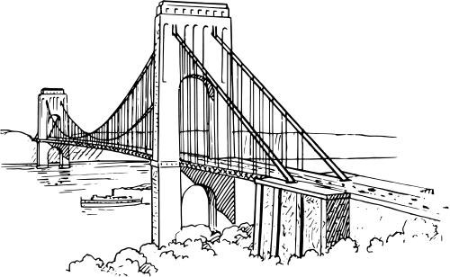 Black bridge clipart clip free download Black Bridge Cliparts 5 - 500 X 308 - Making-The-Web.com clip free download