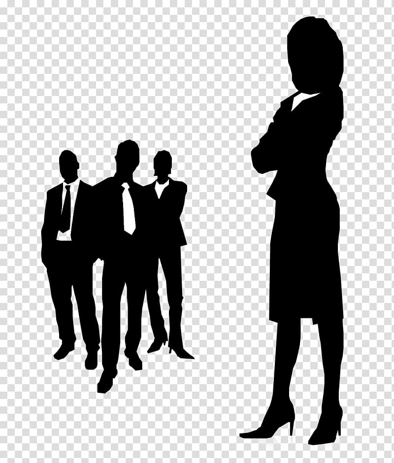 Women in leadership clipart freeuse Man and woman standing , Businessperson Management Woman Female ... freeuse