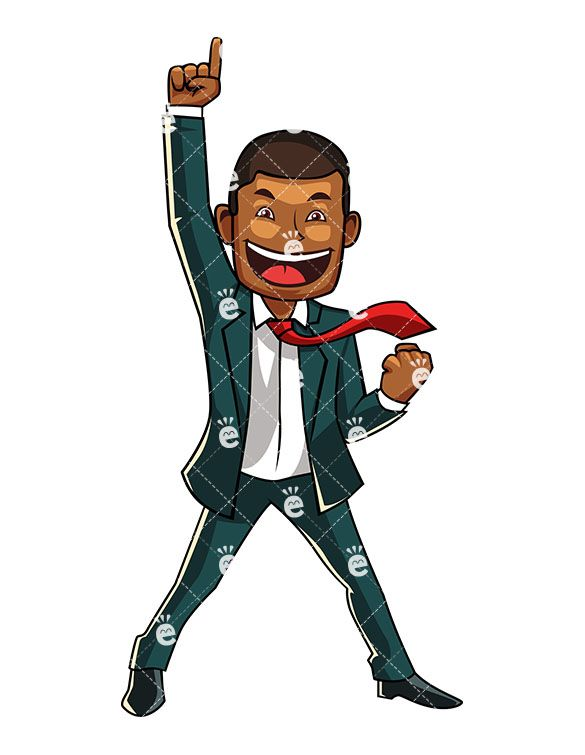 Black businessman clipart graphic free stock A Black Businessman Feeling Like A Winner | Black Businessman ... graphic free stock