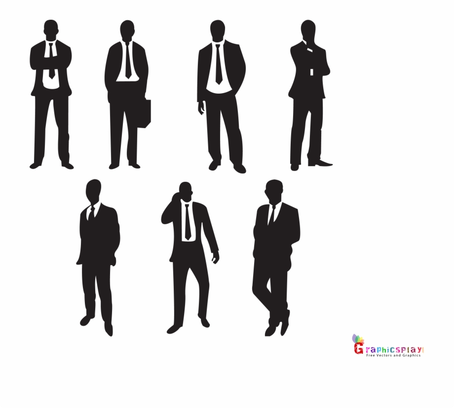 Black businessman clipart png black and white Black Businessman Png - Businessman Silhouette Free PNG Images ... png black and white