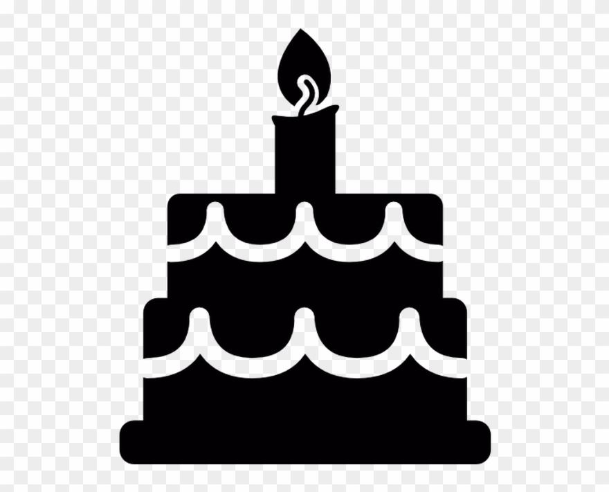 Black cake clipart png black and white library Birthday Cake Free Vector Icons Designed By Freepik - Birthday Cake ... png black and white library