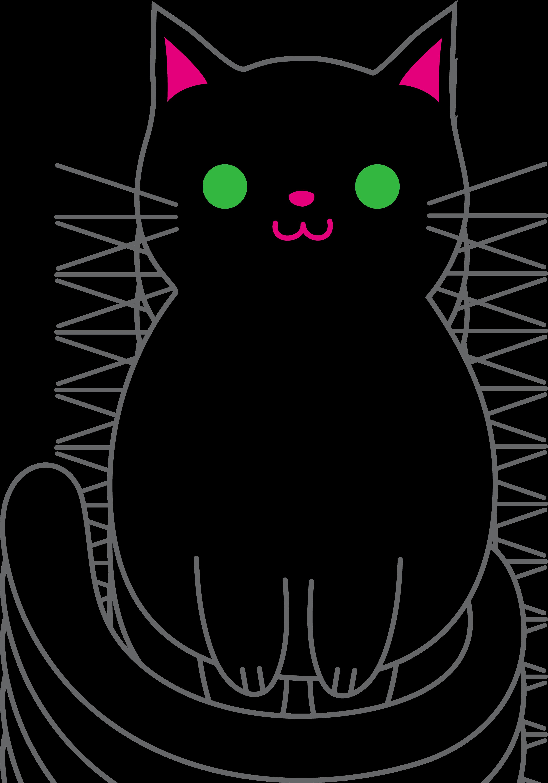 Black cat cartoon clipart image freeuse Free Black Cartoon Cat, Download Free Clip Art, Free Clip Art on ... image freeuse