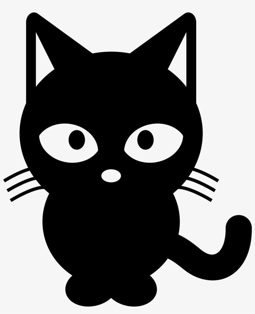 Black cat cartoon clipart vector freeuse library Cat Clipart Black And White - Black Cat Cartoon Png - Free ... vector freeuse library