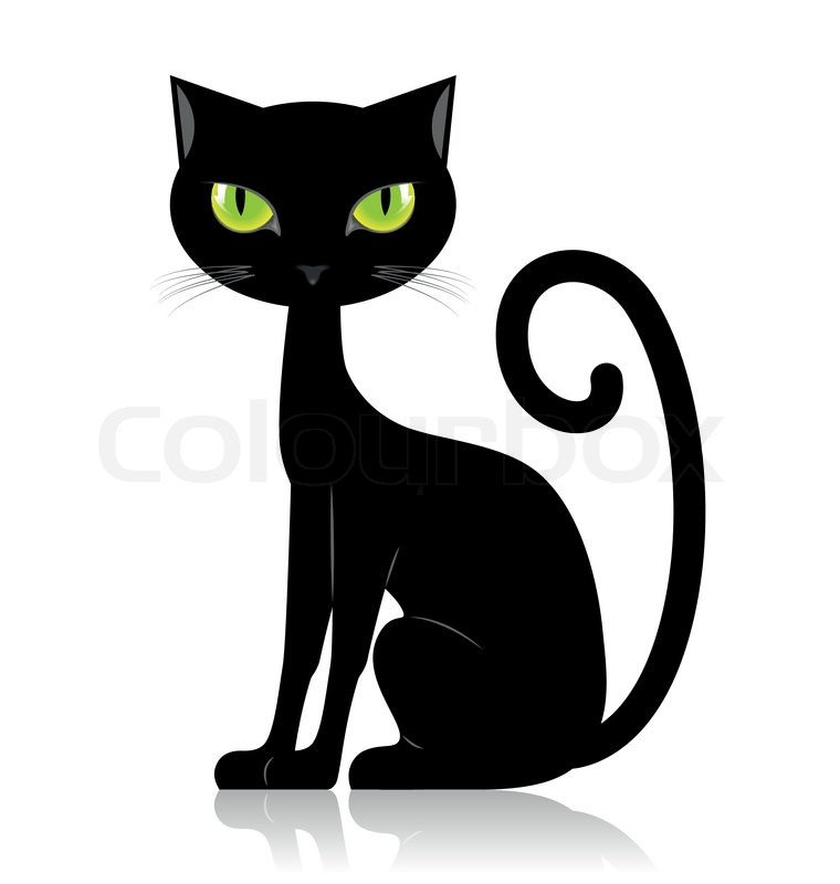 Black cartoon cat clipart vector royalty free library Black And White Cat Cartoon Pictures | Free download best Black And ... vector royalty free library