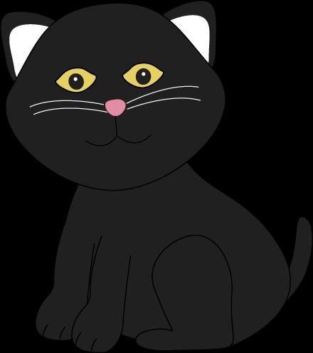 Black cat cartoon clipart picture freeuse library Cartoon cats clip art cute halloween black cat image - Clipartix picture freeuse library