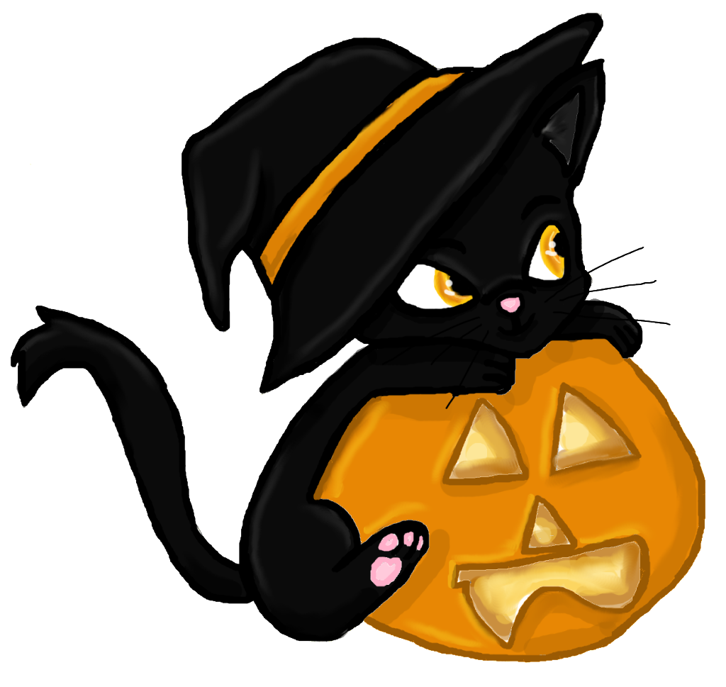 28+ Collection of Cute Halloween Cats Clipart | High quality, free ... clip art royalty free stock