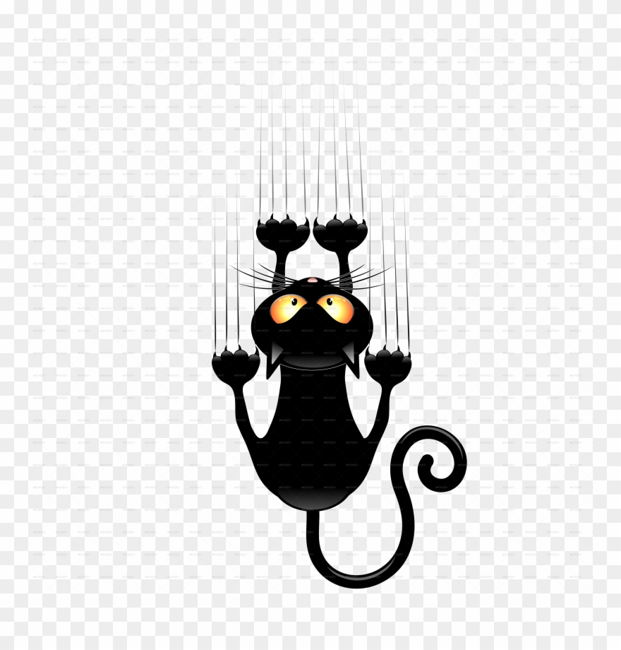 Black cat cartoon clipart svg black and white library Black Cat Cartoons Group Vector Freeuse - Cartoon Cats Scratching ... svg black and white library