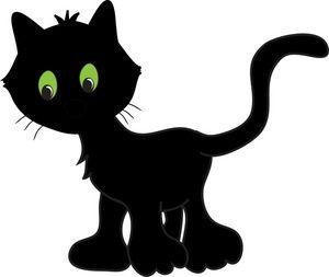 Black cat cartoon clipart graphic transparent library Luca chose this cute little black cat cartoon | Clip Art - Halloween ... graphic transparent library