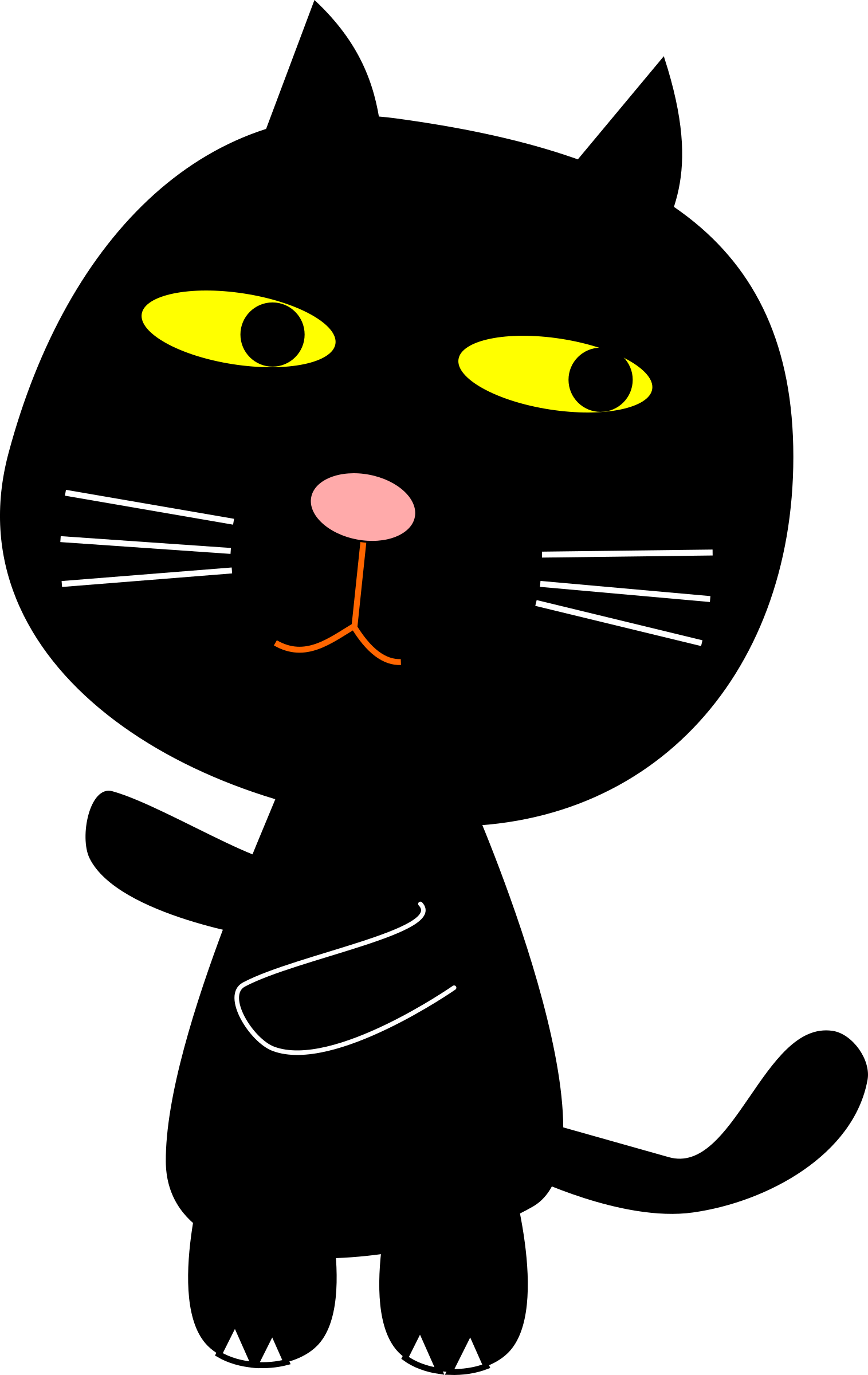 Clipart - Black Cat clipart black and white download