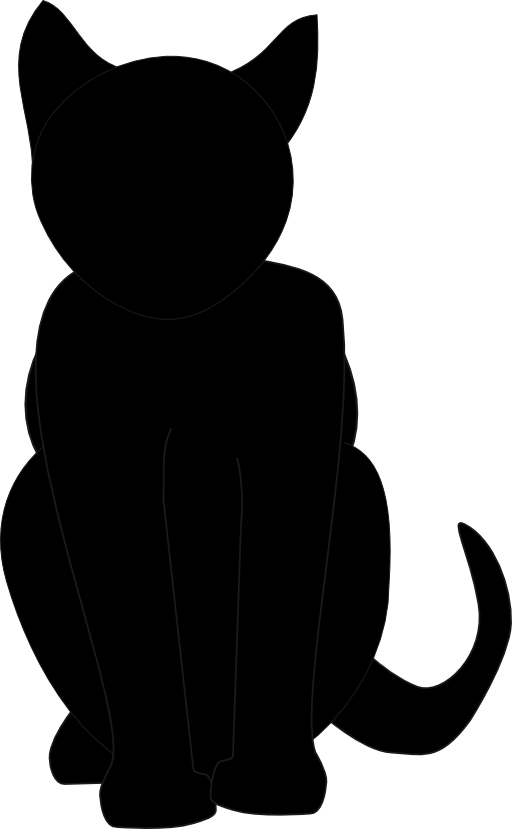 Black cat clipart black and white image library library Black Cat Clipart | i2Clipart - Royalty Free Public Domain Clipart image library library