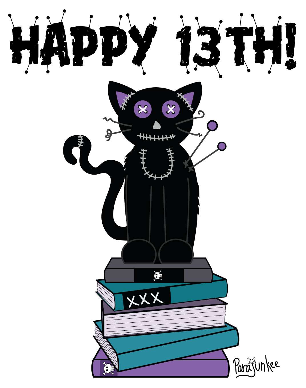 Black cat clipart click stars to rate graphic library Happy 13th! - The PJV graphic library