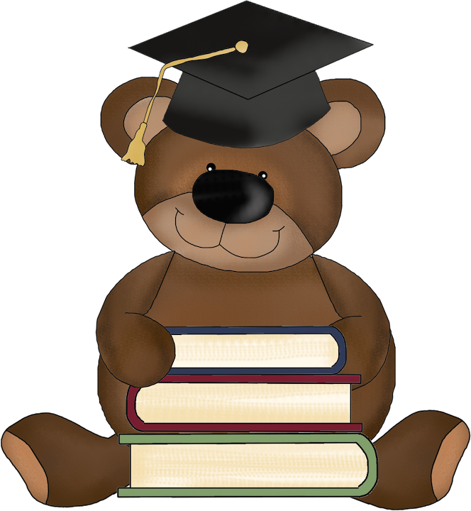 Cute school bear clipart clip art transparent library GRADUATE TEDDY BEAR * | CLIP ART - T. BEARS #2 - CLIPART | Pinterest ... clip art transparent library
