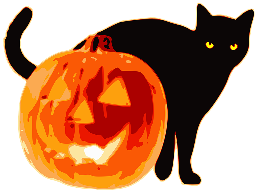 Spooky Cat Clipart at GetDrawings.com | Free for personal use Spooky ... vector black and white stock