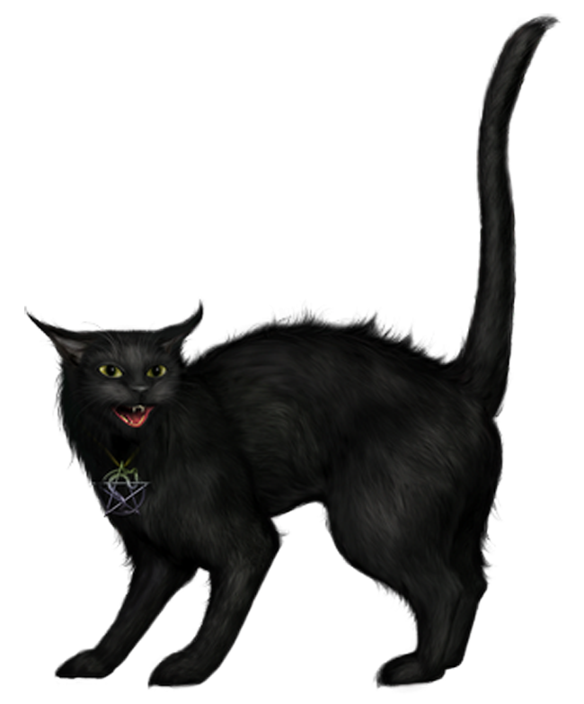 Black cat clipart png banner black and white download Creepy Black Cat PNG Picture | Gallery Yopriceville - High-Quality ... banner black and white download