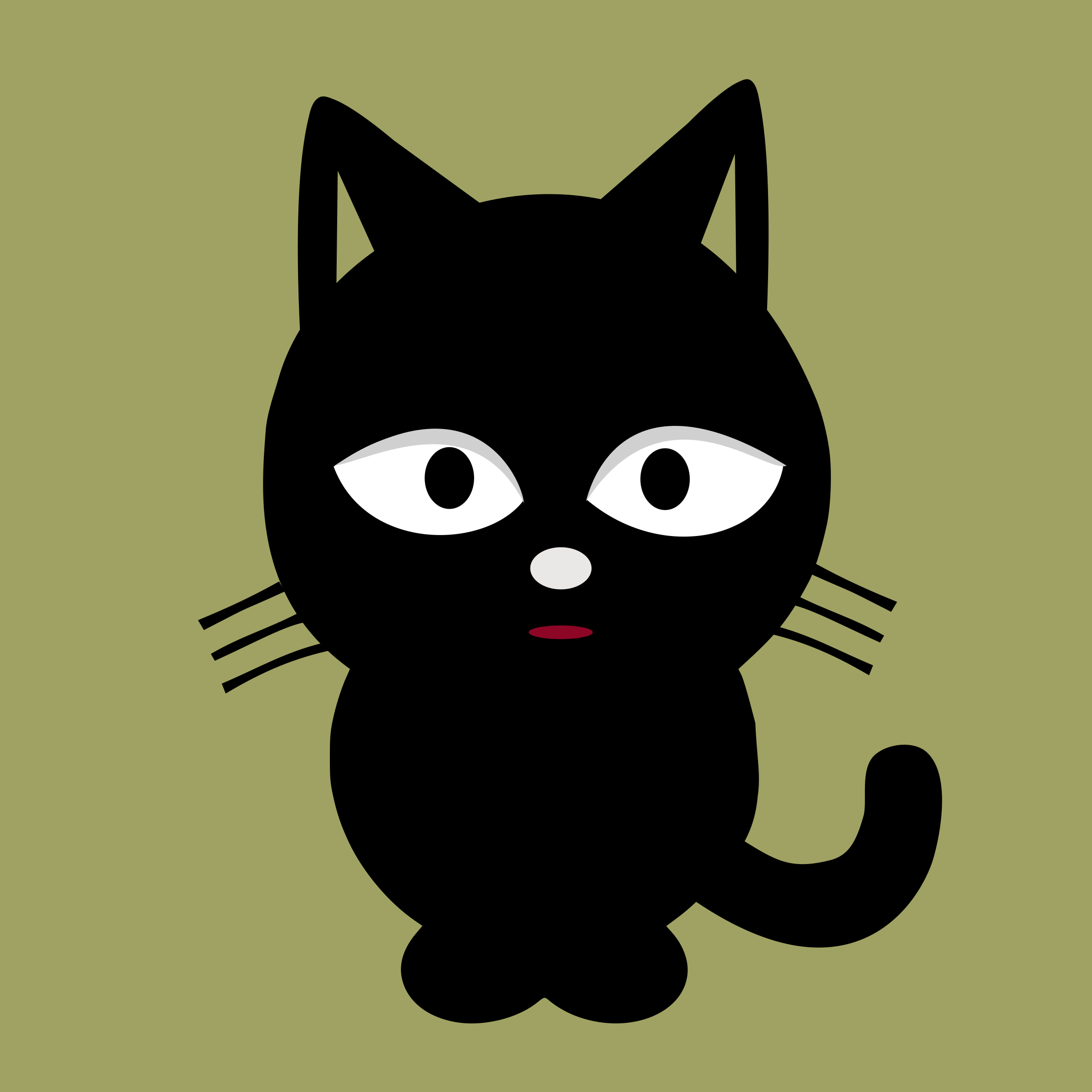 Black cat cute clipart clipart royalty free library Clipart - Blackcat-animation clipart royalty free library
