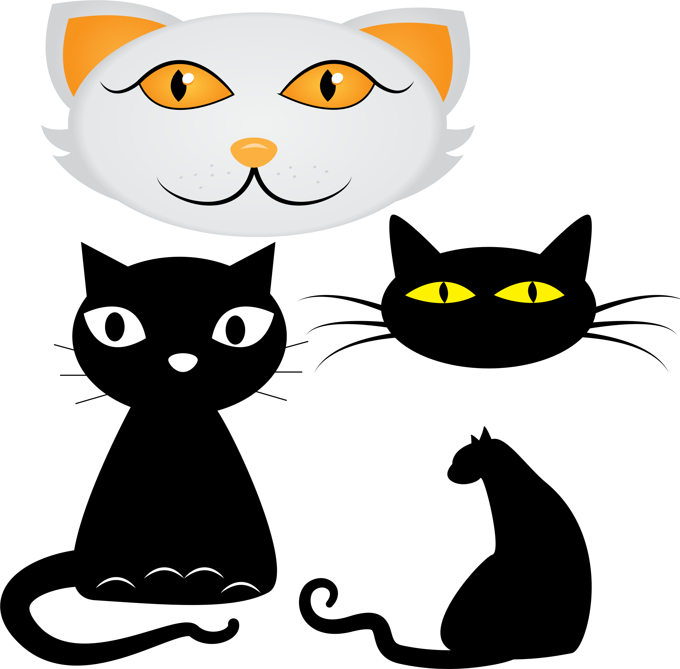 Black cat cute clipart banner freeuse download Clipart - Collection of cat illustrations banner freeuse download