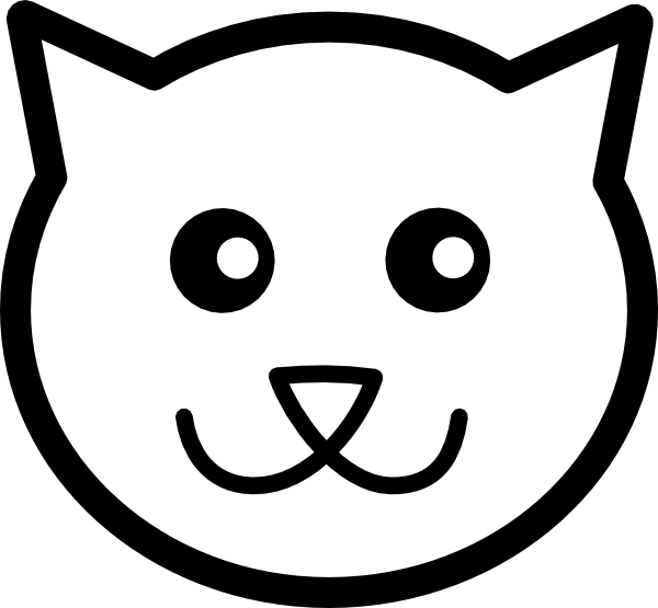 Pumpkin face clipart black and white picture transparent library Modern Outline Of Cat Face Cat Face Outline St #30662 picture transparent library