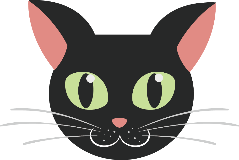 Black cat Kitten - Cartoon cat face 1000*672 transprent Png Free ... clipart freeuse library