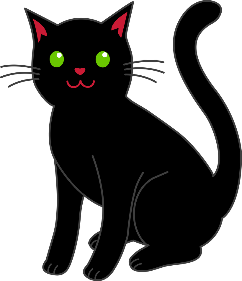 Black cat free clipart svg royalty free library Cat Clipart Free | Bedwalls.co svg royalty free library