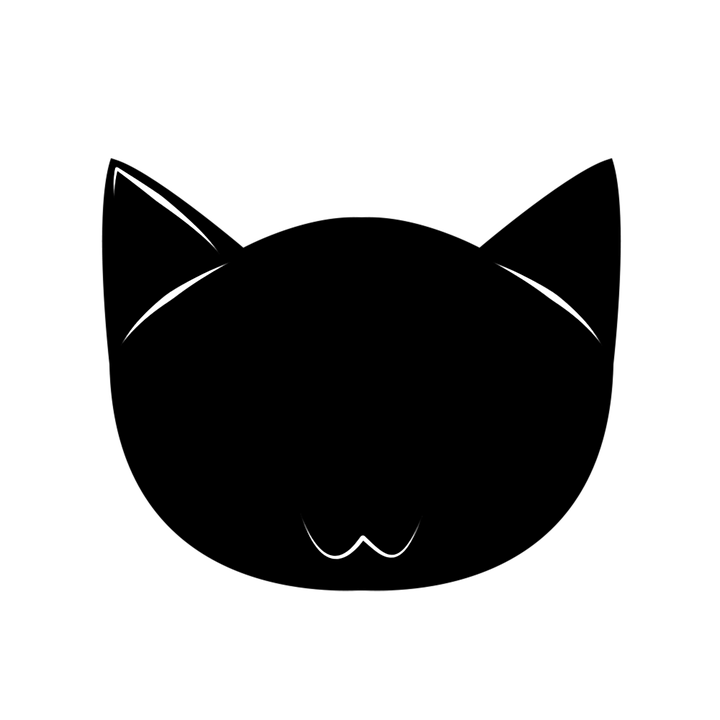 Cat head silhouette clipart png royalty free Cat Face Silhouette (32+) Desktop Backgrounds png royalty free