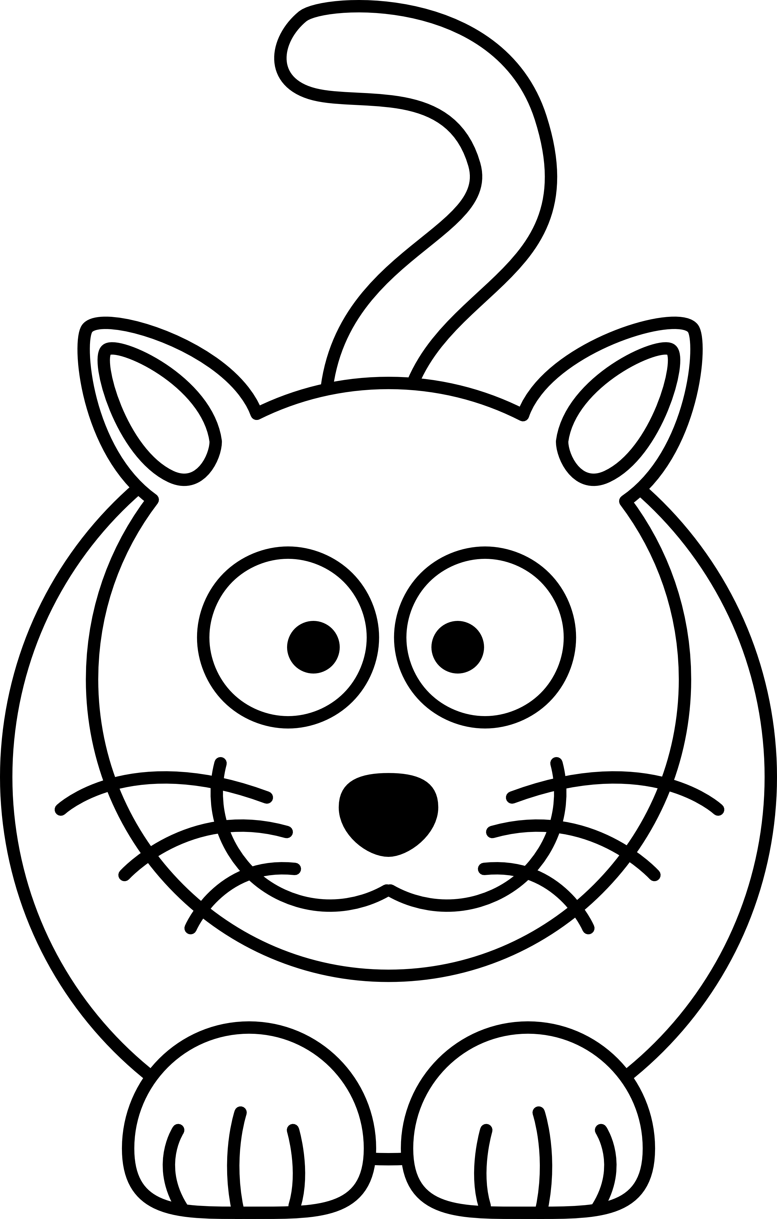 Cat clipart black and white simple clipart royalty free library Cat Face Line Drawing at GetDrawings.com | Free for personal use Cat ... clipart royalty free library