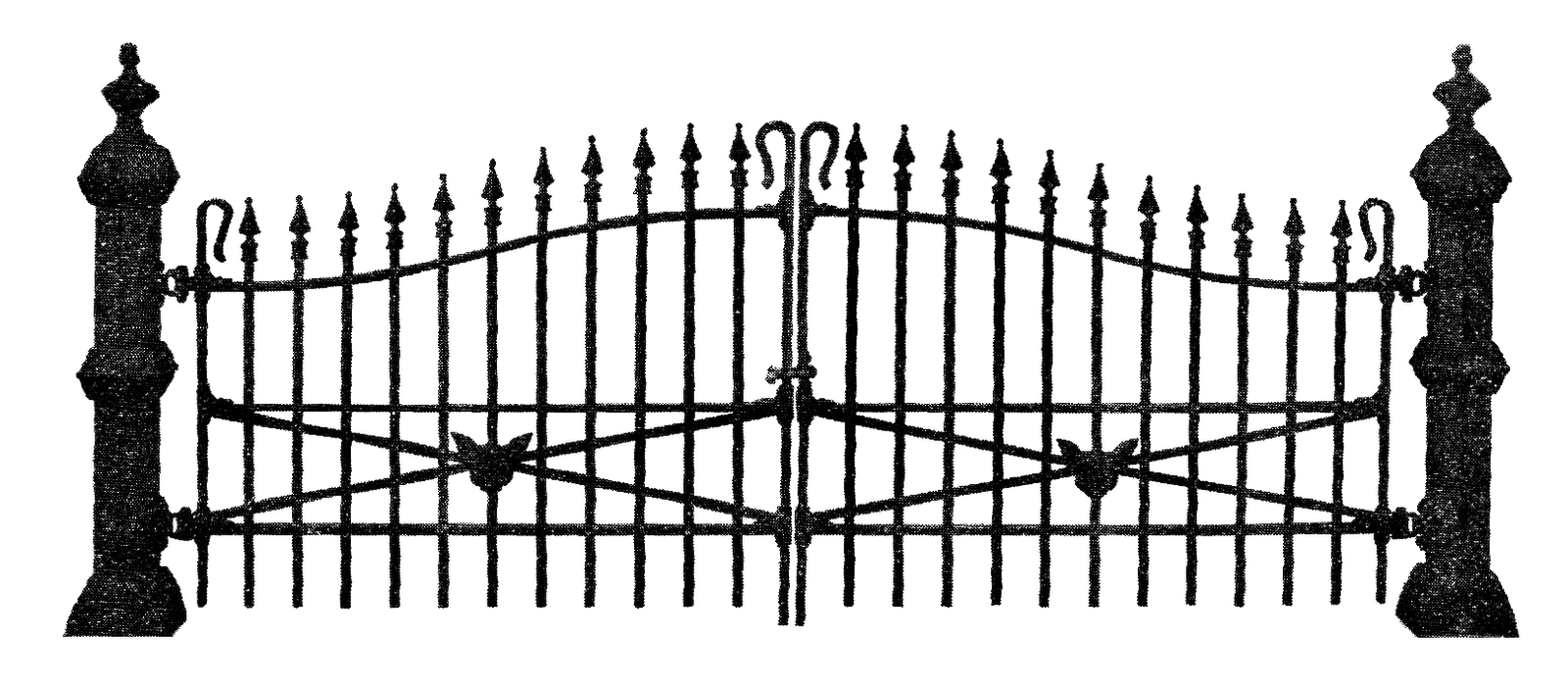 Black cat on fence clipart clip art royalty free stock Clip Art Designs, Vector Clip Art Graghic: Free Antique Graphic for ... clip art royalty free stock