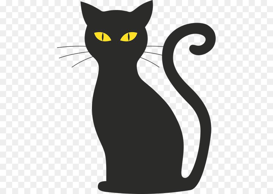 Black cat silhouette clipart clip transparent download Cat Silhouette png download - 523*640 - Free Transparent Cat png ... clip transparent download