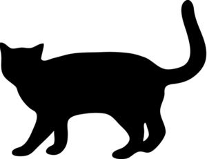 Black cat silhouette clipart graphic freeuse library For my quilt label? - Cat Silhouette Clipart Image: Cat Walking with ... graphic freeuse library