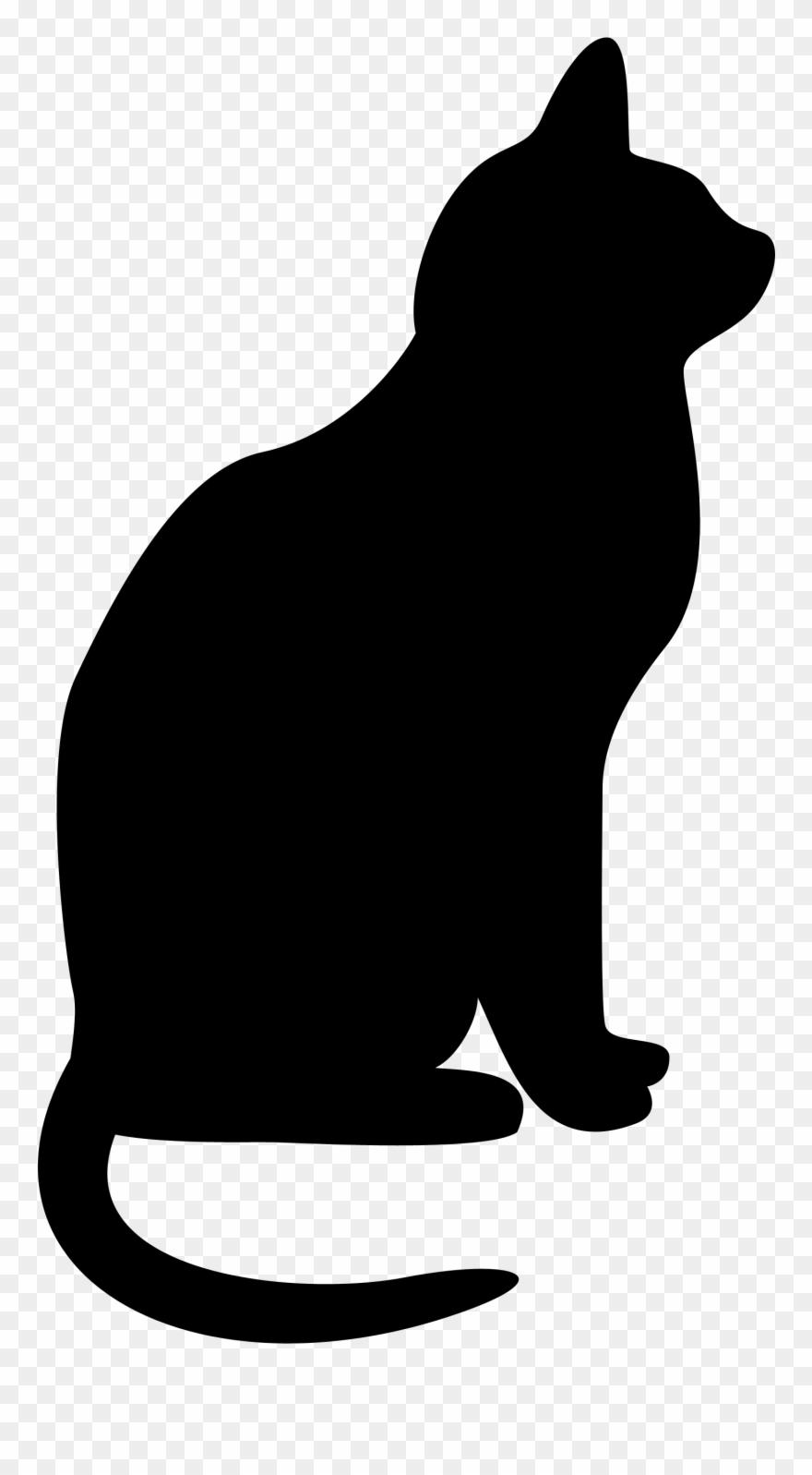 Black cat silhouette clipart vector stock Cats Clipart Silhouette Clip Art Transparent Library - Black Cat ... vector stock