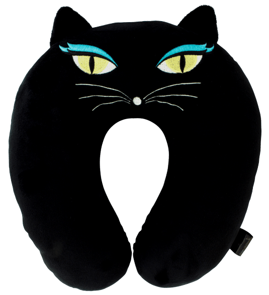 Black cat sleeping clipart jpg transparent library Cat My Neck - Travel pillow Black Cat - Pylones jpg transparent library