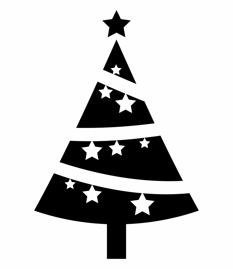 Black cat under christmas tree clipart png freeuse stock Christmas Tree Ornamented With Stars Comments - Christmas Tree Black ... png freeuse stock