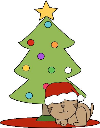 Black cat under christmas tree clipart banner Kitty christmas clipart - Bitcoin reddit tv banner