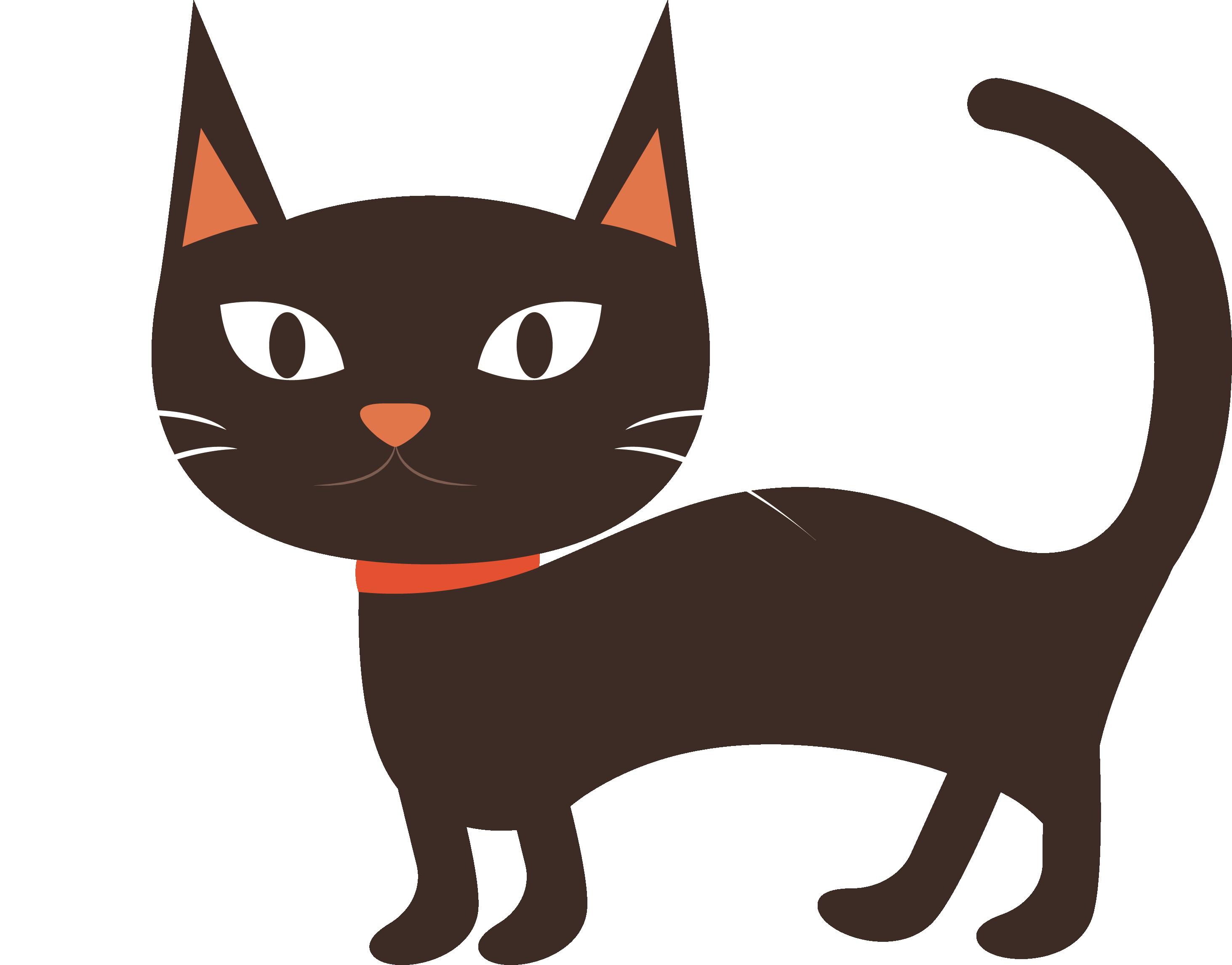 Cartoon black cat clipart image transparent Burmese cat Black cat Kitten Whiskers - Lovely cartoon black cat ... image transparent