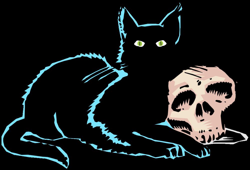 Black cat whiskers clipart banner OnlineLabels Clip Art - Evil Black Cat.Svg banner