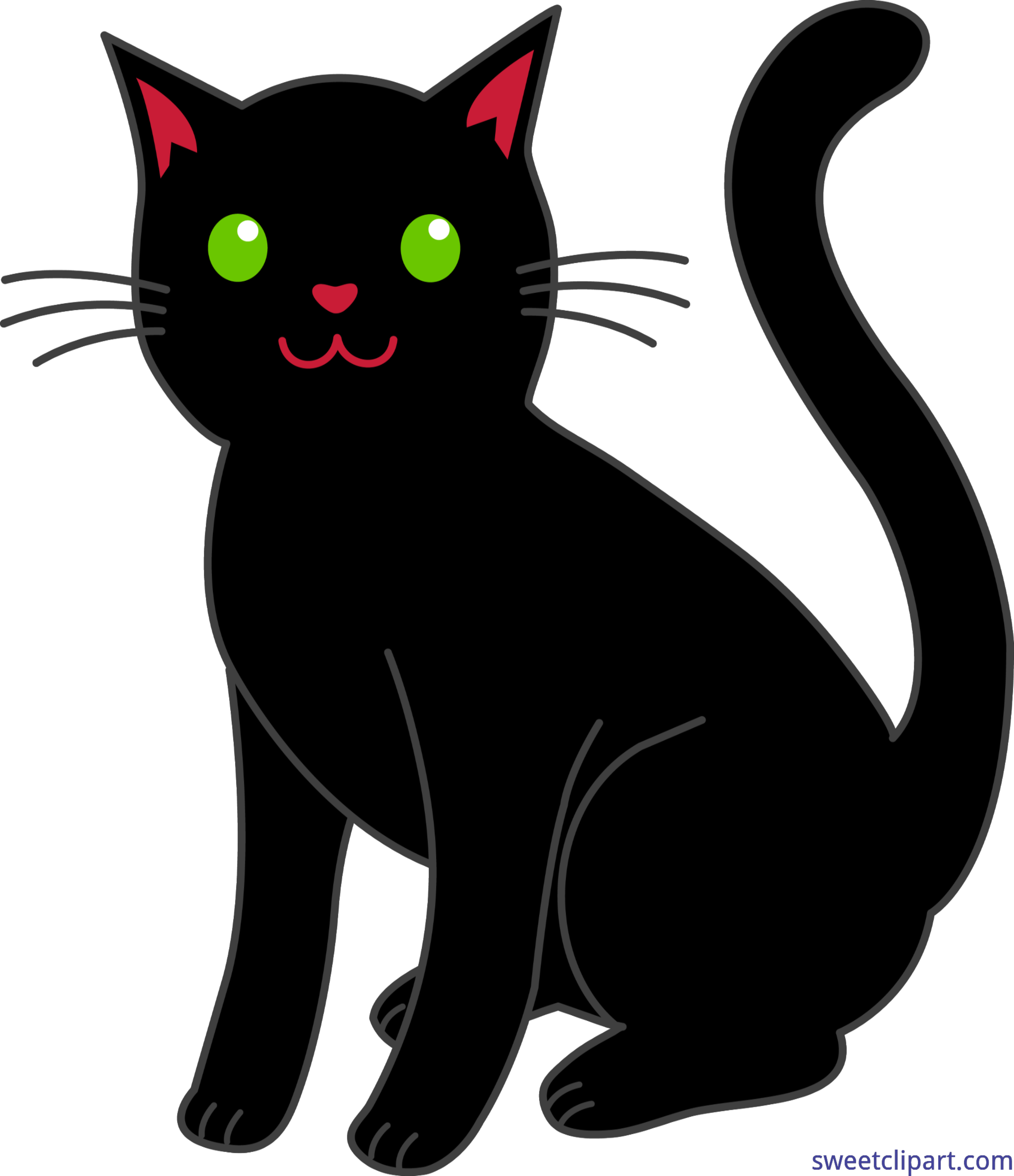 Black cat whiskers clipart graphic Halloween Black Cat Clip Art - Sweet Clip Art graphic