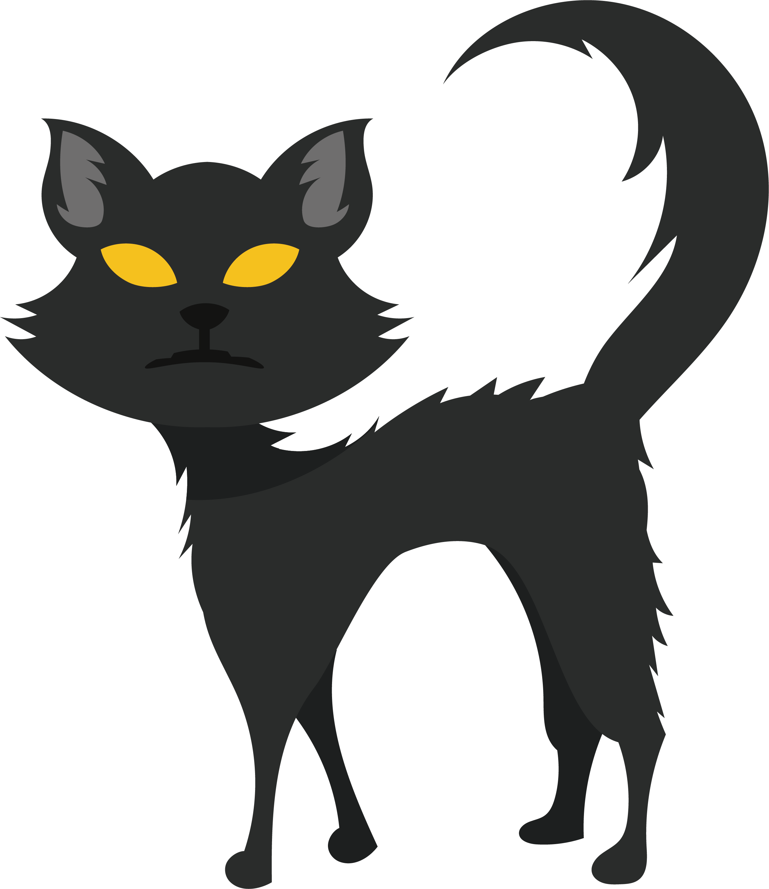 Black cat whiskers clipart vector free library Black cat Kitten Whiskers Domestic short-haired cat - Horrible black ... vector free library