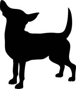 Black chihuhu clipart image freeuse stock Chihuahua Clipart Image: Black   Clipart Panda - Free Clipart Images image freeuse stock