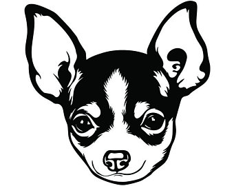 Black chihuhu clipart svg library stock Chihuahua Clipart Black And White (94+ images in Collection) Page 2 svg library stock