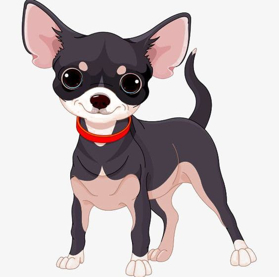 Black chihuhu clipart clipart black and white download Cartoon Chihuahua PNG, Clipart, Black, Cartoon, Cartoon Clipart ... clipart black and white download