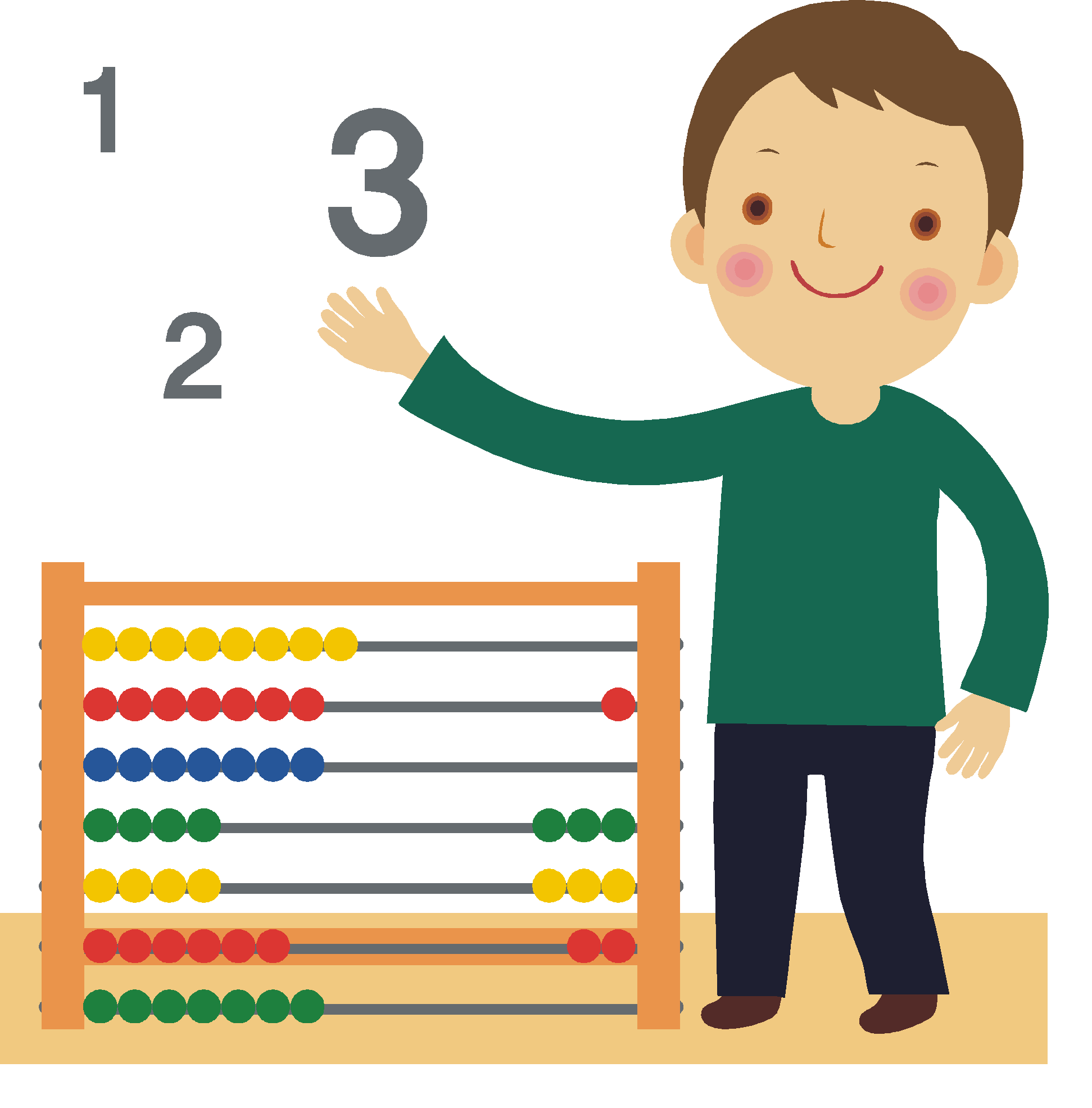 Black child counting clipart banner free Kids Counting Clipart banner free