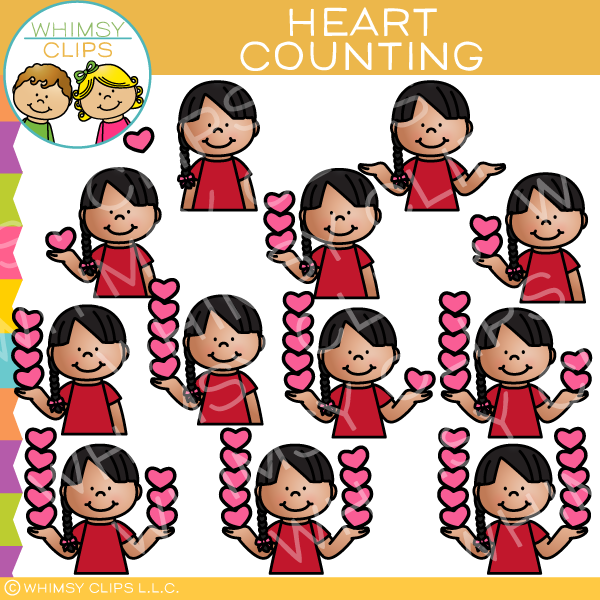Black child counting clipart jpg royalty free download Kid Counting Hearts Clip Art jpg royalty free download