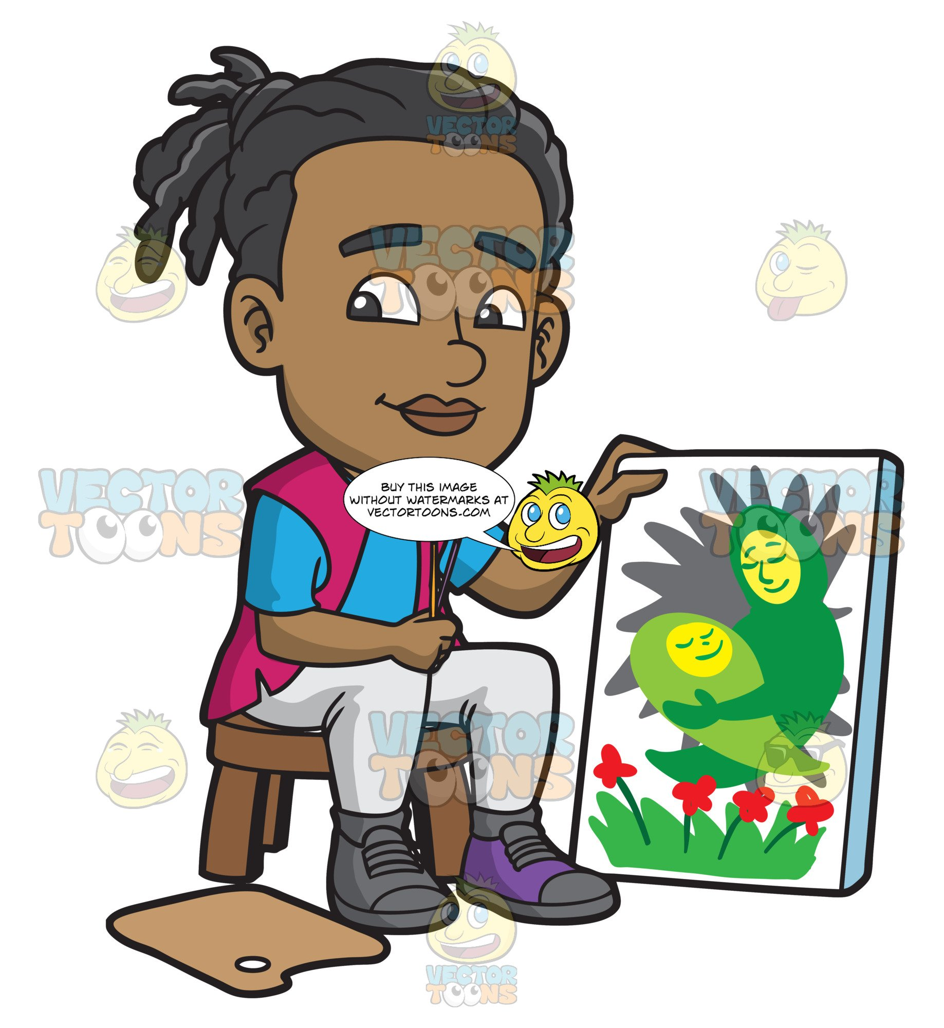 Black child painting clipart picture freeuse download A Black Man Presenting His Mother And Child Painting picture freeuse download