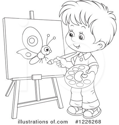Black child painting clipart picture transparent stock Boy Painting Clipart Black And White – Letters with regard to ... picture transparent stock