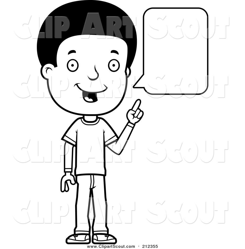 Talking black and white clipart clip transparent Child Talking Clipart Black And White clip transparent